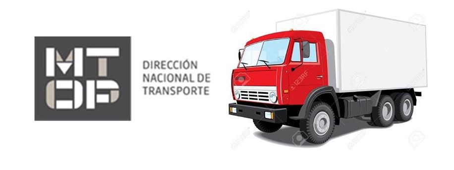 MTOP – Inscripcion de Vehiculos para Transporte de Carga y/o Pasajeros