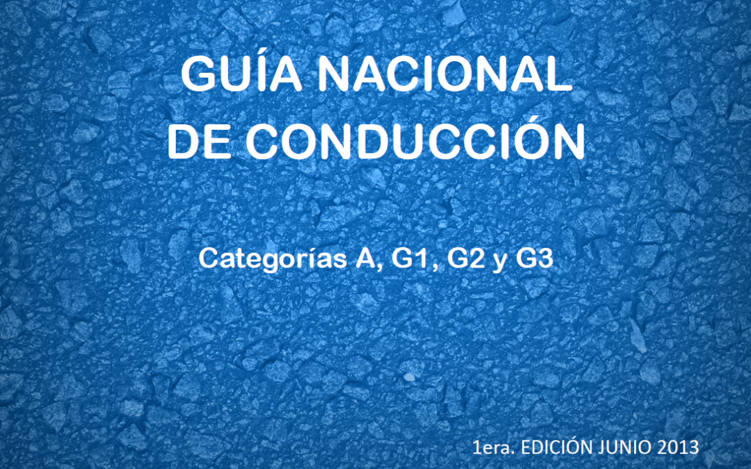 Manual de Conduccion para Vehiculos que circulan en Uruguay